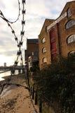 在日落的菲尼斯码头 免版税库存图片