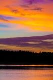 在日落的许多颜色 免版税库存照片