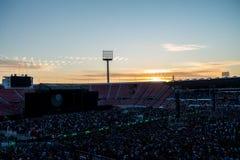 在日落的音乐会 图库摄影