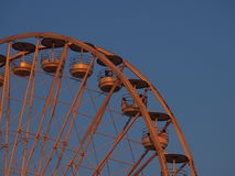 在日落的马赛轮子 库存照片
