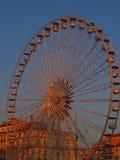 在日落的马赛轮子 免版税库存图片