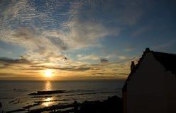 在日落的鼓笛 免版税图库摄影