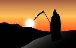 在日落的死亡 向量例证