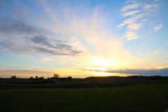 在日落的11月大气 库存照片