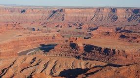 在日落的Canyonlands 免版税库存图片