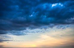 在日落的Cloudscape 库存照片