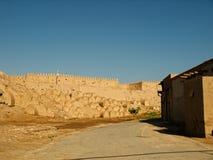 在日落的Khiva 图库摄影