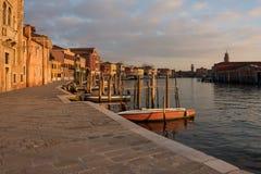 在日落的Murano 库存图片