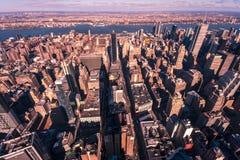 在日落的NYC 免版税库存图片