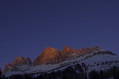在日落的Rosengarten 库存图片