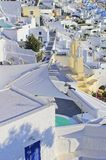在日落的Santorini 免版税图库摄影