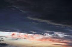 在日落的skyscape 库存图片