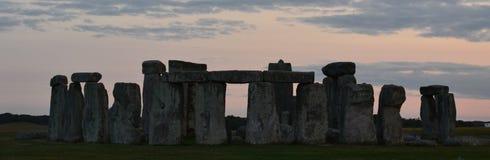 在日落的Stonehenge 库存图片