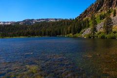 在日落,优胜美地国家公园,加利福尼亚的尤塞米提谷视图 库存图片