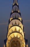 在日落,纽约, NY的克莱斯勒大厦 免版税库存照片