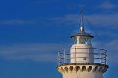 在日落, Cesenatico,意大利的灯塔 免版税库存图片