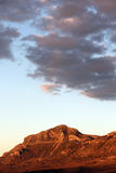 在日落, madonie,西西里岛的落矶山脉 免版税库存照片