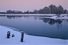 在日落以后在春天 免版税库存照片