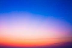 在日落以后的五颜六色的天空 库存图片
