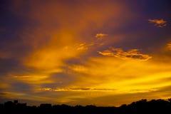在日落以后的光 免版税库存图片