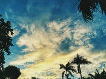 在日落以后的天空 免版税图库摄影