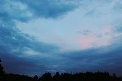 在日落以后的天空 库存图片