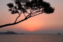 在日落以后的宁静 免版税库存照片