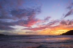 在日落以后的暮色天空 库存照片