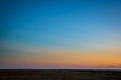 在日落以后的清楚的天空在科罗拉多 库存图片
