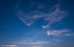 在日落以后的蓝天 免版税库存图片
