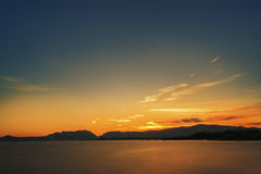 在日落以后 库存照片