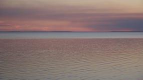 在日落St Josephs海湾之后 库存照片