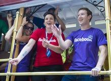 在旧金山同性恋自豪日的Facebook 免版税库存图片