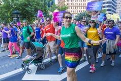 在旧金山同性恋自豪日的Facebook 免版税库存照片