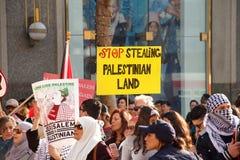 在旧金山抗议,关于耶路撒冷的加州宣称Isreal国会大厦  免版税库存图片
