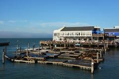 在旧金山湾的码头39 库存图片