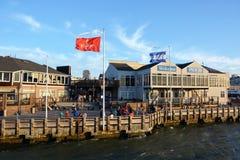 在旧金山湾的码头39 免版税库存照片