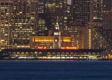 在旧金山湾的轮渡大厦 免版税库存图片