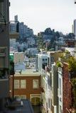 在旧金山都市风景的看法白天的 库存照片