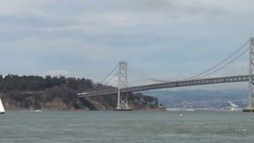 在旧金山附近的海湾桥梁 免版税库存照片