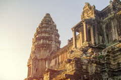 在早晨光的寺庙 免版税库存图片