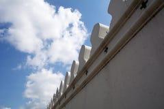 在早晨时间的宫殿墙壁 免版税图库摄影