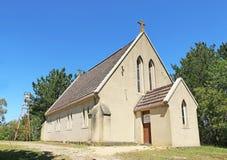 在早英国哥特式复兴样式(1862)建造的圣保罗的英国国教的教堂,是林顿的最旧的生存教会 免版税库存图片