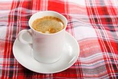 在早餐桌的咖啡 免版税图库摄影