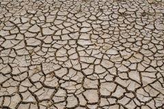 在旱季的高明的土壤,全球性变暖/崩裂了干泥/D 免版税图库摄影