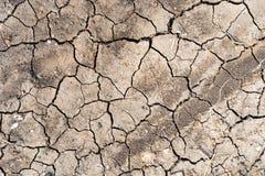在旱季,全球性变暖作用的高明的土壤 免版税库存照片