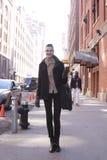 在时尚星期期间,时装模特儿夏天街道样式 免版税库存照片