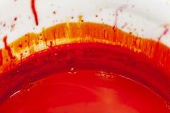 在时段的红色油漆 免版税库存照片
