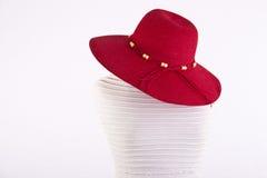 在时装模特的夏天帽子 库存照片