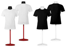 在时装模特躯干模板的简单的T恤杉。 库存照片